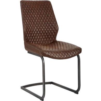 Jeff vintage barna szánkótalpú szék