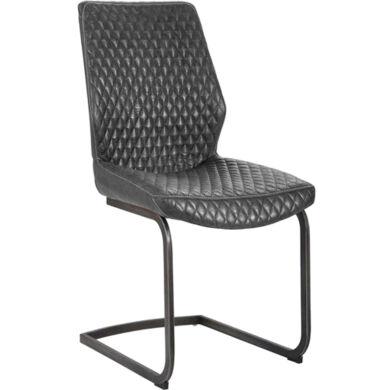 Jeff vintage szürke szánkótalpú szék