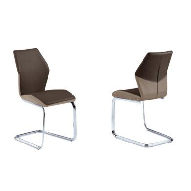 Snap  szánkótalpú szék, capuccino/barna