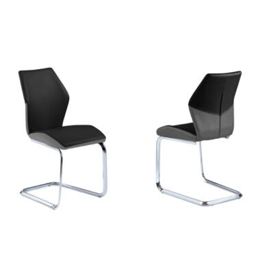 Snap  szánkótalpú szék, szürke/fekete