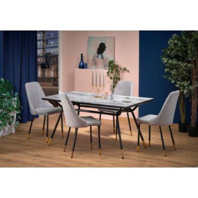 Glamour üveglapos asztal, 160 cm