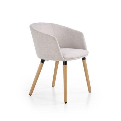 K 266 karfás szék, világos szürke
