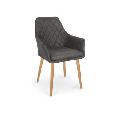 K 287 karfás szék, sötét barna