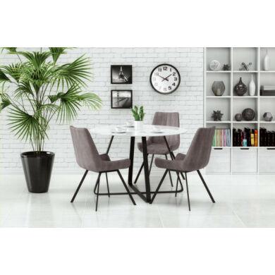 Looper asztal, 115 cm, fehér/fekete