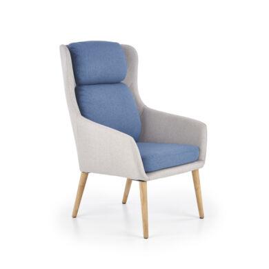 Purio fotel világos szürke/kék