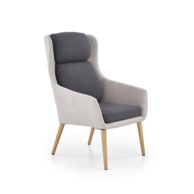 Purio  fotel világos szürke/sötét szürke