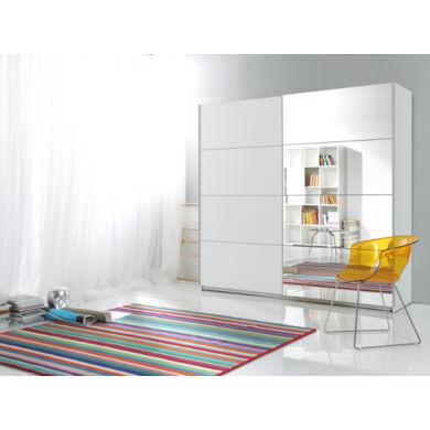 Beta 57 ruhásszekrény, 200 cm, fehér