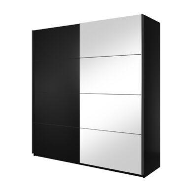 Beta 58 ruhásszekrény, 220 cm, fekete