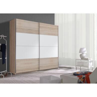 Beta 18 ruhásszekrény, 220 cm, sonoma/fehér