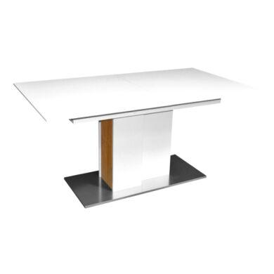 Arizona 160/240 nagyobbítható asztal, fehér/vadtölgy