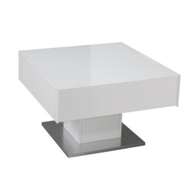 Mix Box fiókos dohányzó asztal , üveglapos,  fehér vagy antracit