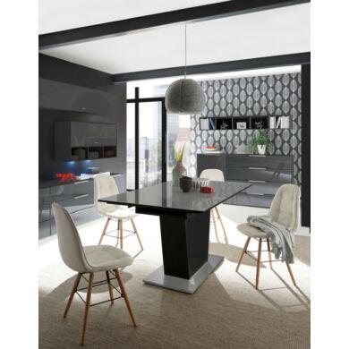 Mix Box  étkező asztal 160/240, üveglapos,  fehér vagy antracit