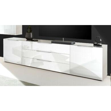 Mix Box LB-23 TV szekrény, üvegfrontos, fehér vagy antracit