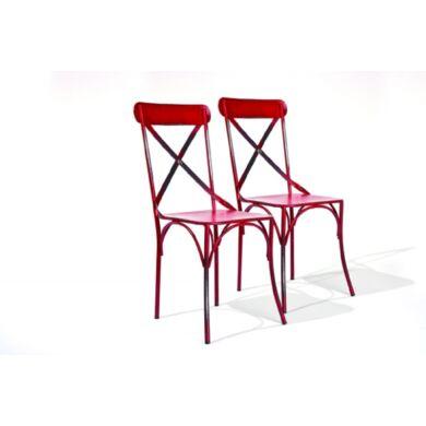 Bistro szék, piros (2 db-os szet)