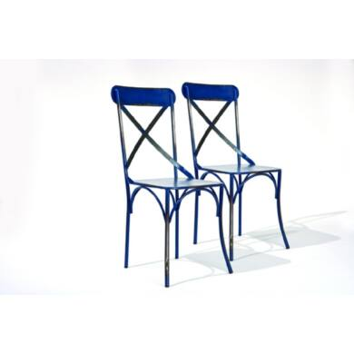 Bistro szék, kék (2 db-os szet)