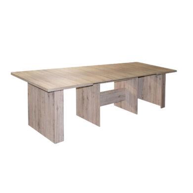 Brasil 140/300  asztal, világos sanremo tölgy