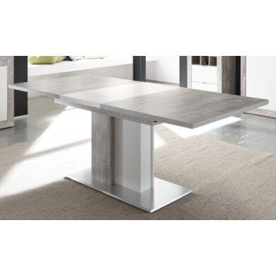Jump étkező asztal 160/210, beton/fehér