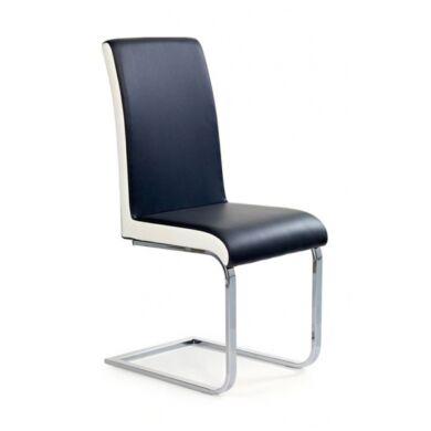 K 103 szánkótalpú szék, fekete/fehér