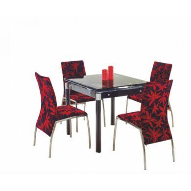 Kent 80x80/130 nagyobbítható asztal, fekete