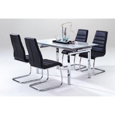 Mistral nagyobbítható asztal, fehér üveggel, több méret