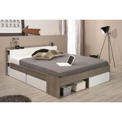 Most ágy 140x200 cm, ezüst dió