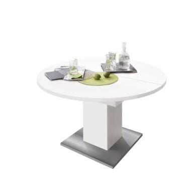 Rund 120/160 szinkronmechanikás asztal, fehér