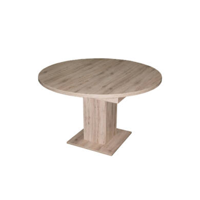 Rund 140/180 szinkronmechanikás asztal, világos sanremo tölgy