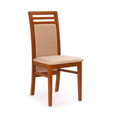 Sylwek 4 szövetes szék,  cseresznye antik
