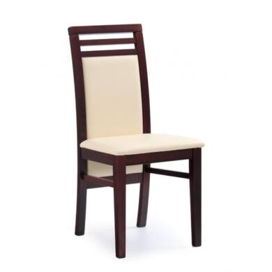 Sylwek 4 műbőrös szék, sötét dió