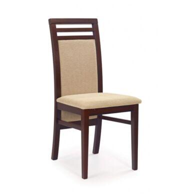 Sylwek 4 szövetes szék, sötét dió