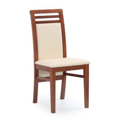 Sylwek 4 műbőrös szék, cseresznye antik