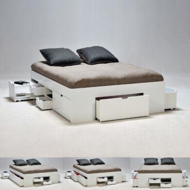 Jazz ágykeret 140x190 cm, éjjeli szekrényekkel, fiókokkal