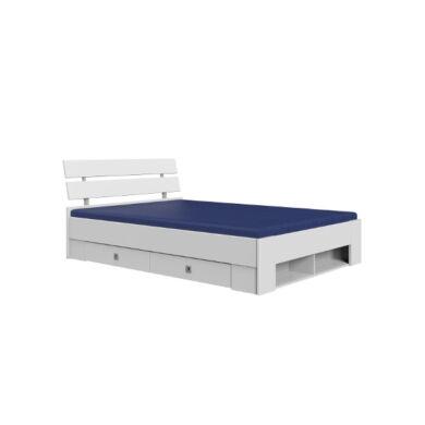 Lenny 463 fiókos ágykeret, 140x200 cm, fehér