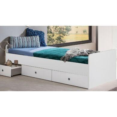Lenny 464 fiókos ágykeret, 90x200 cm, fehér