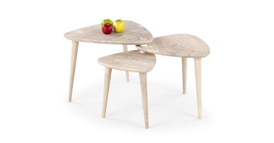 Corsica dohányzó asztal, mosott fehér